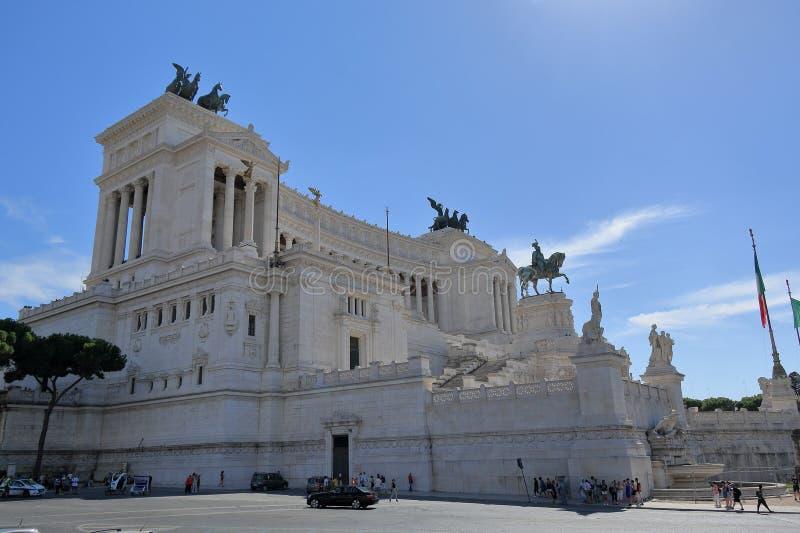 View on Monumento a Vittorio Emanuele II royalty free stock photo