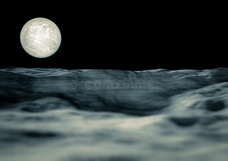 Download View of the moon stock illustration. Illustration of bright - 27259047