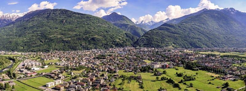 Morbegno in Valtellina, Italy royalty free stock image