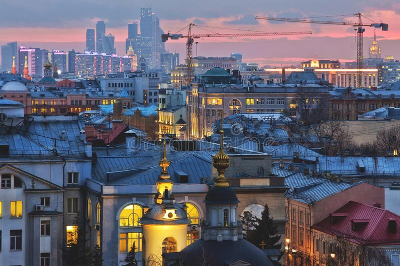 View in Moscow city royalty free stock images