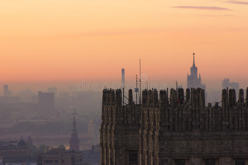 View of Moscow with high-rise buildings. Year 26.04.2016, photography with high-rise buildings in Moscow royalty free stock photo