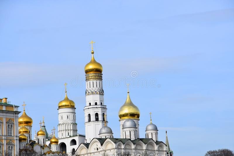 Moscow Kremlin. UNESCO World Heritage Site. View of the Moscow Kremlin, a popular touristic landmark. UNESCO World Heritage Site stock photo
