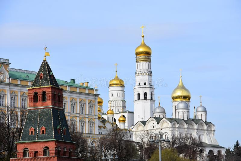 Moscow Kremlin. UNESCO World Heritage Site. View of the Moscow Kremlin, a popular touristic landmark. UNESCO World Heritage Site royalty free stock images