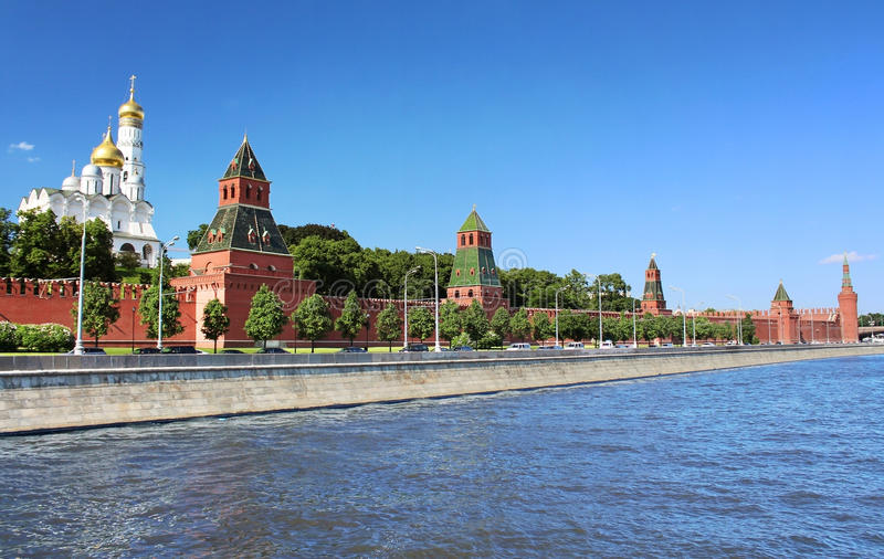 View of the Moscow Kremlin stock images