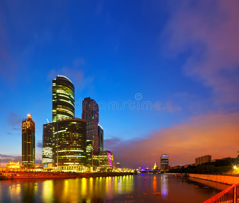 View of Moscow in morning royalty free stock photography