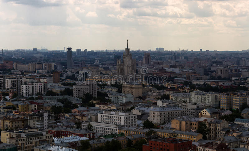 View on Moscow from roof royalty free stock photography