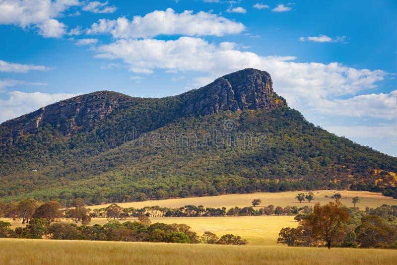 View of Mount Abrupt, Grampians. Closeup view of Mount Abrupt, Grampians, Victoria, Australia stock images