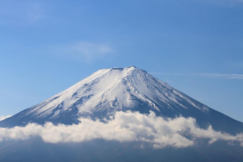 View of Mount Fuji from Kawaguchiko in October stock images