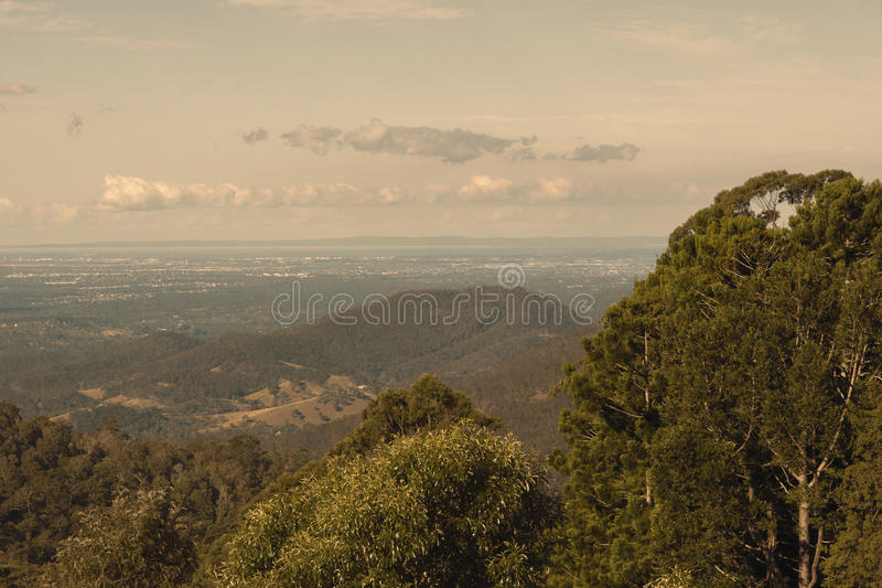 View from Mount Glorious near Brisbane, Queensland. royalty free stock photos