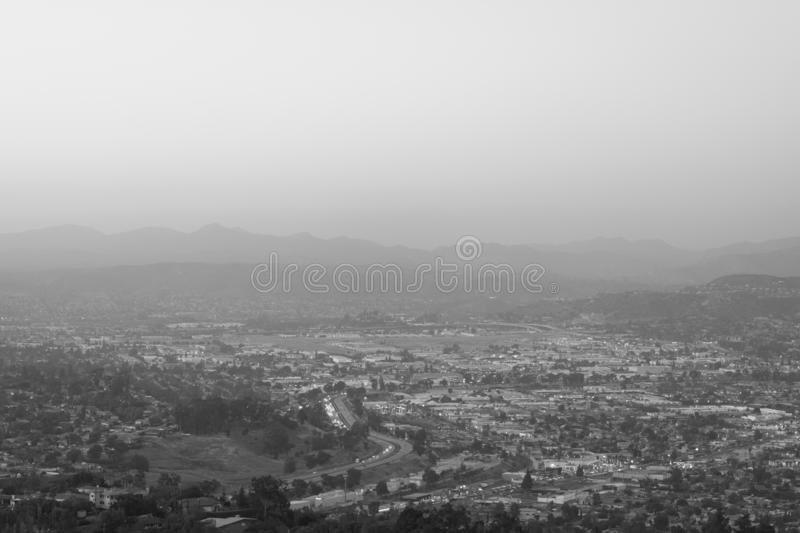 View from Mount Helix, in La Mesa, near San Diego, California.  royalty free stock images