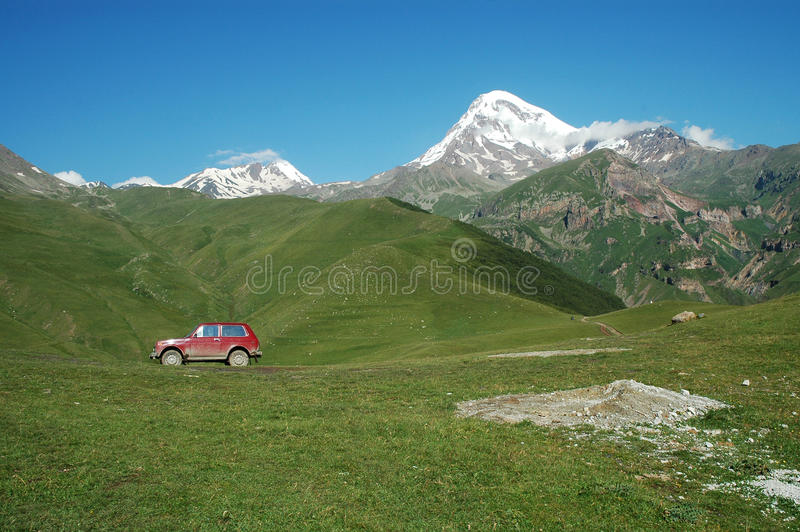 View on Mount Kazbek, Georgia royalty free stock photos