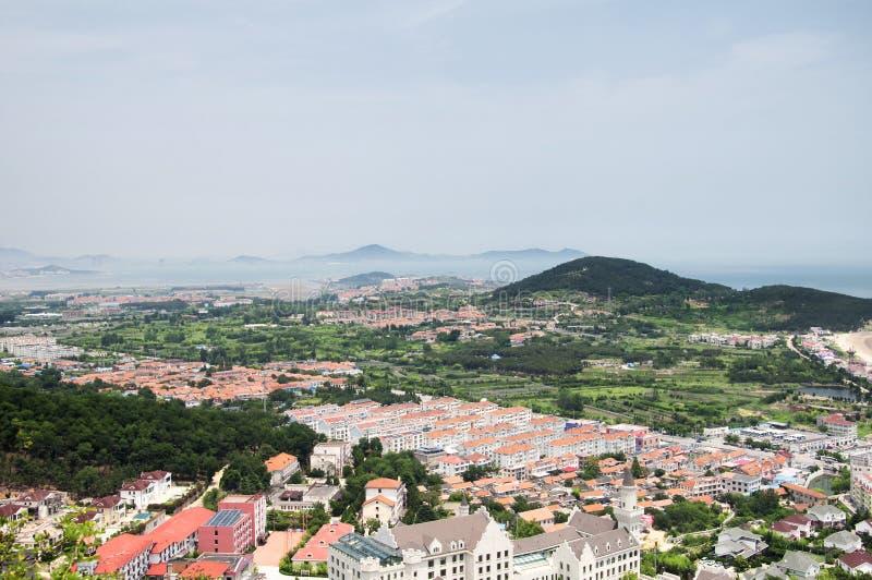 Laoshan and East china sea Landscape Qingdao China day royalty free stock image