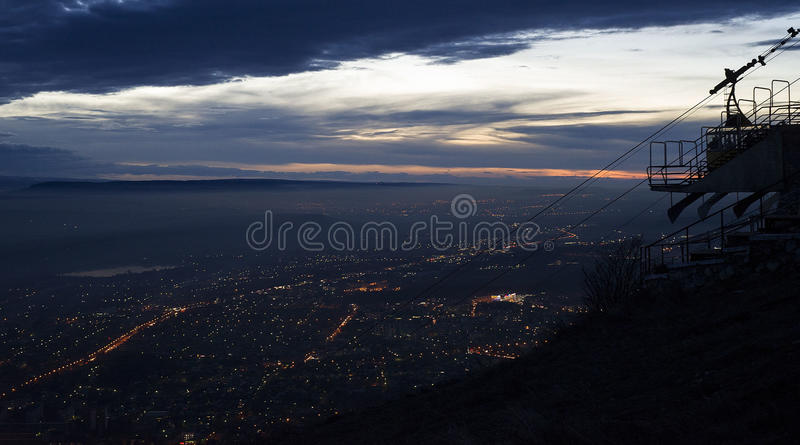 View from Mount Mashuk Pyatigorsk city stock photo