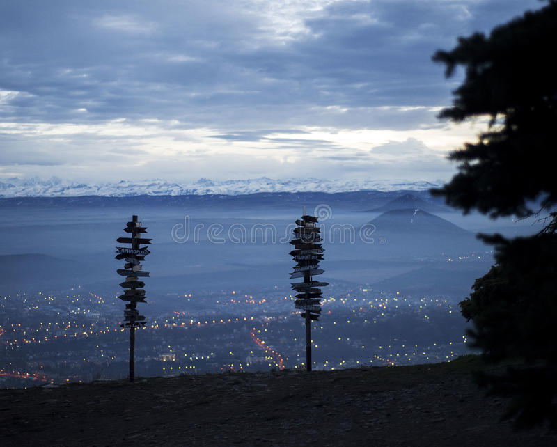 View from Mount Mashuk Pyatigorsk city stock photography