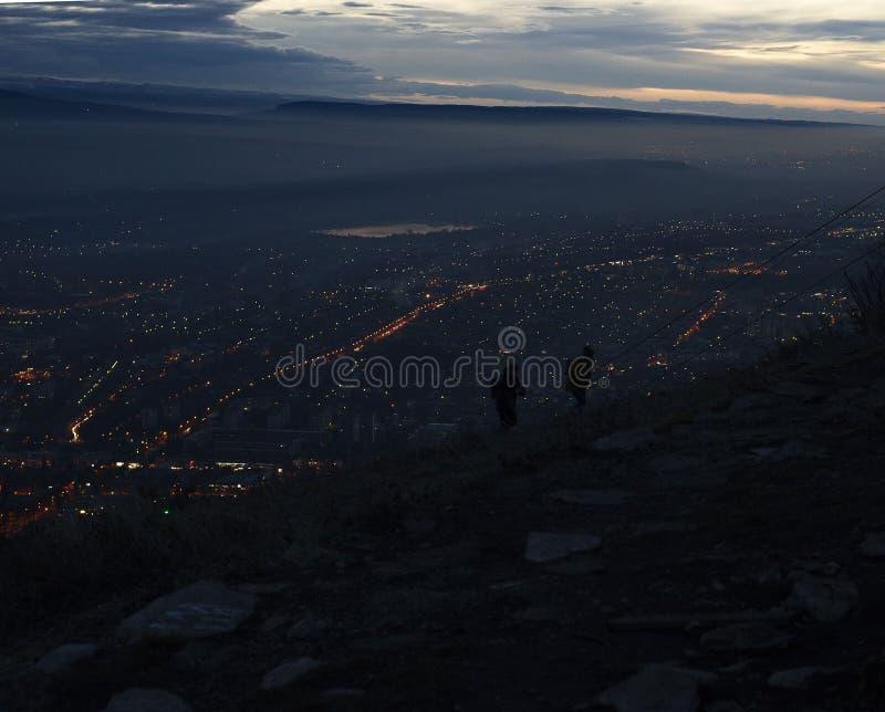 View from Mount Mashuk Pyatigorsk city royalty free stock image