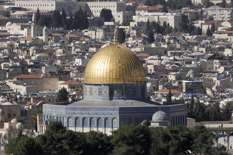 Download View From The Mount Of Olives Of The Temple Mount Stock Photo - Image: 12599266