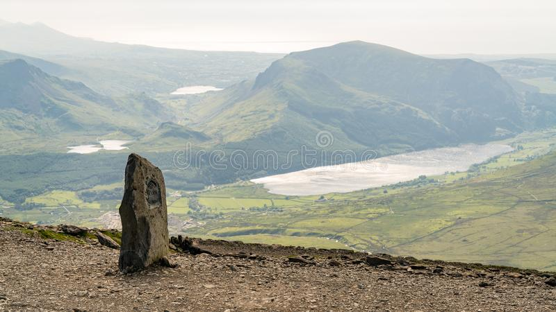 View from Mount Snowdon, Gwynedd, Wales, UK stock photo