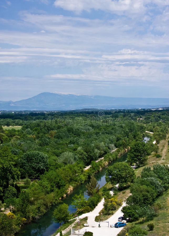 Download View Of Mount Ventoux From Avignon Stock Photo - Image: 25525912