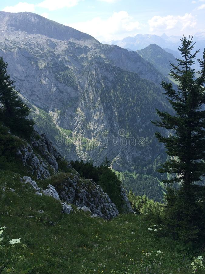 View from mountain in Austria royalty free stock photos