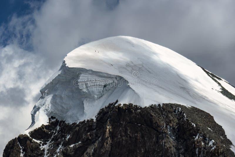 A view on mountain Breithorn stock photo