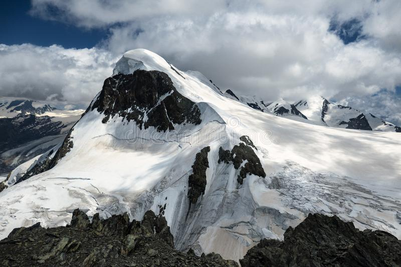 A view on mountain Breithorn royalty free stock photography