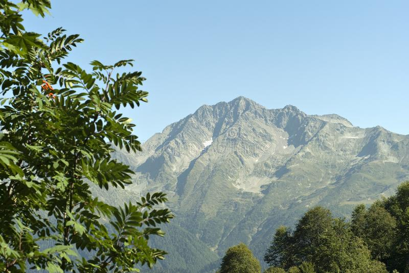 View of the mountain Chugush stock photography