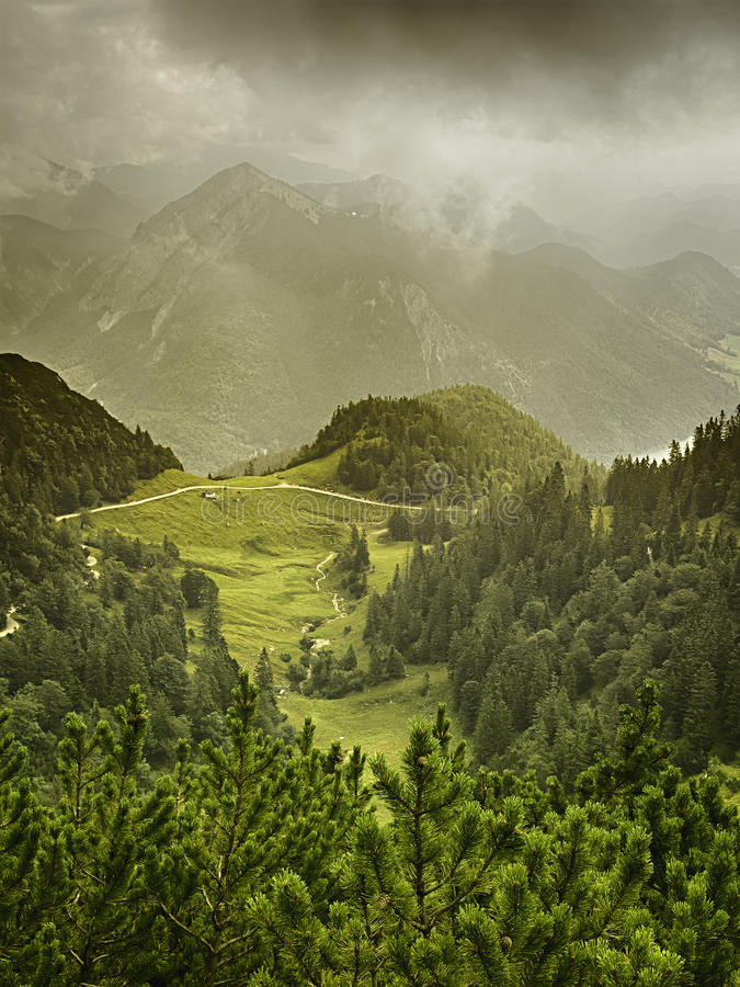 Download View From The Mountain Herzogstand Stock Photo - Image: 33211602