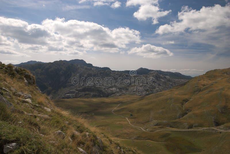 View from mountain between manito and kapetanovo lake , Montenegro stock images