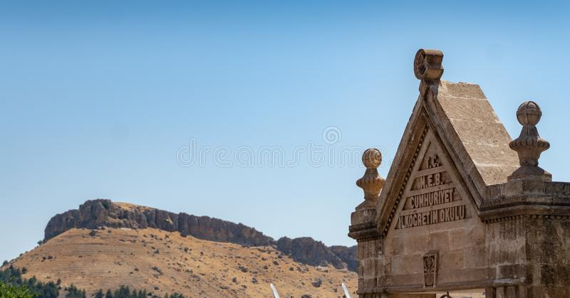 View of Mountain from Mardin Center. Mardin Old City in Southeast Turkey - landscape stock photography