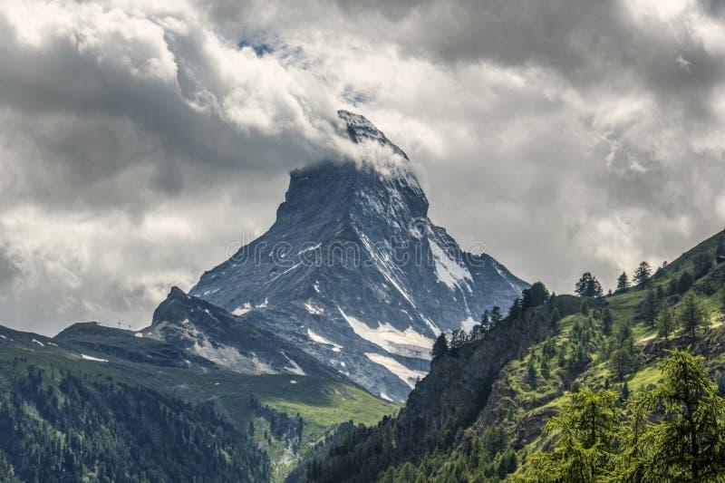 A view on mountain Matterhorn stock photography