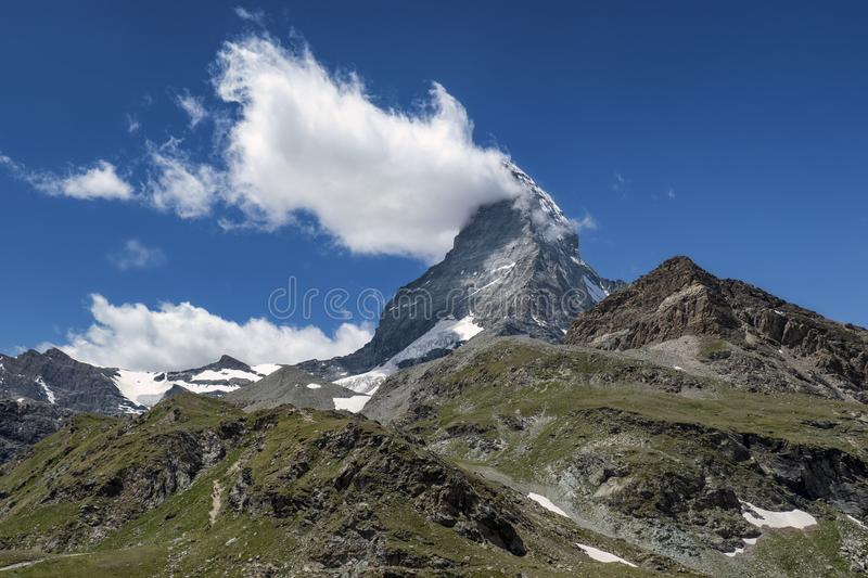 A view on mountain Matterhorn royalty free stock photography