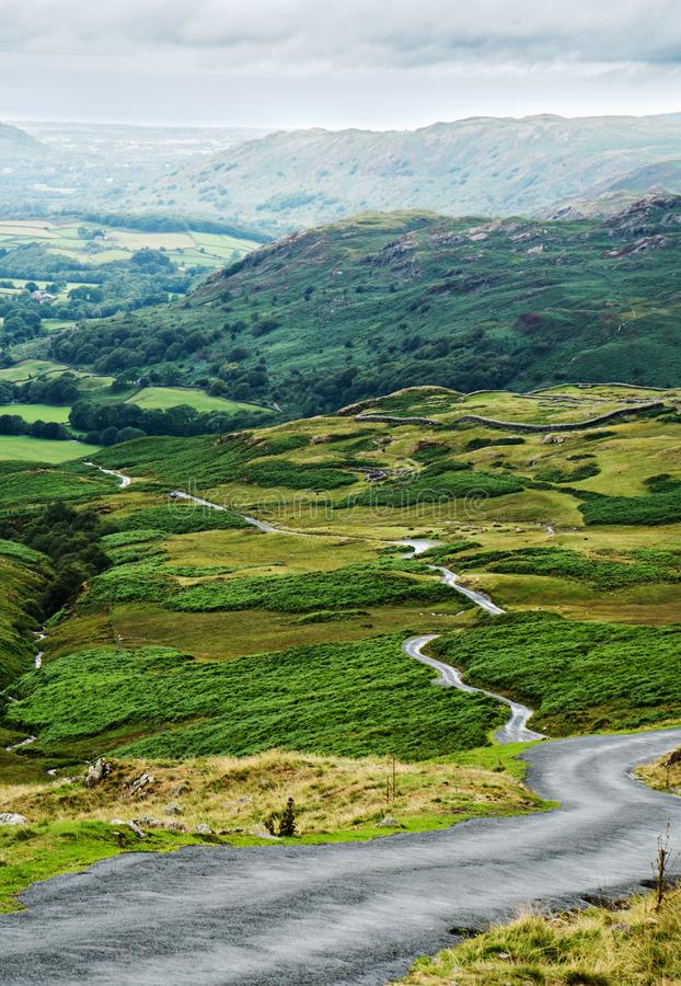 View from Hardknott Pass stock images