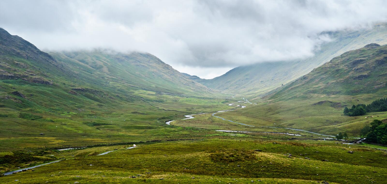 View from Hardknott Pass stock photography