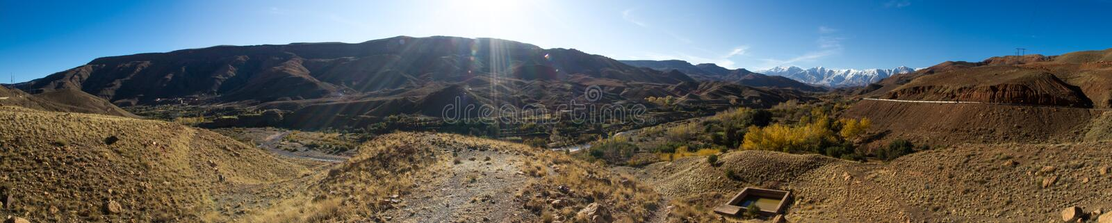 View on the mountains royalty free stock image