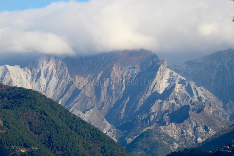 The view of the mountains. These are the mountains , the Alps in Italy at a sunny but also cloudy day royalty free stock image