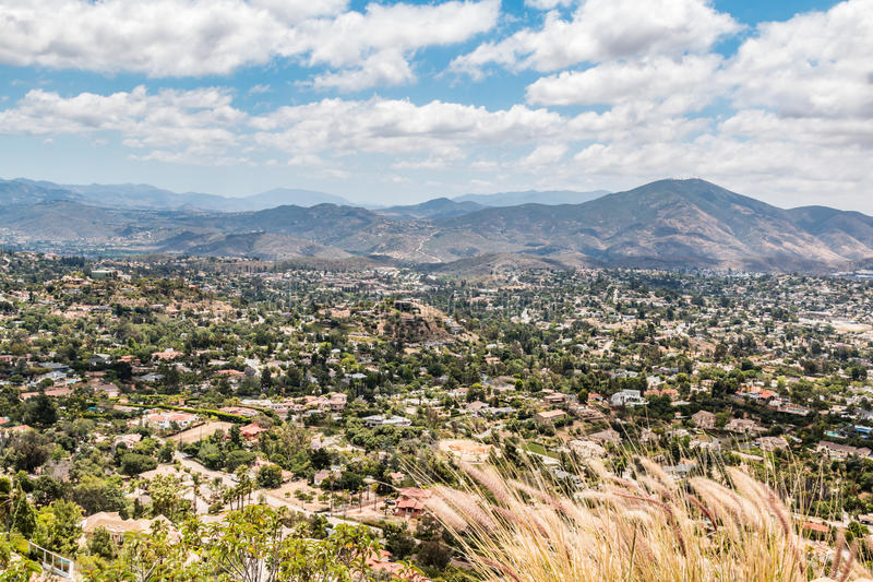 View of Mountains and City From Mt. Helix Park stock image