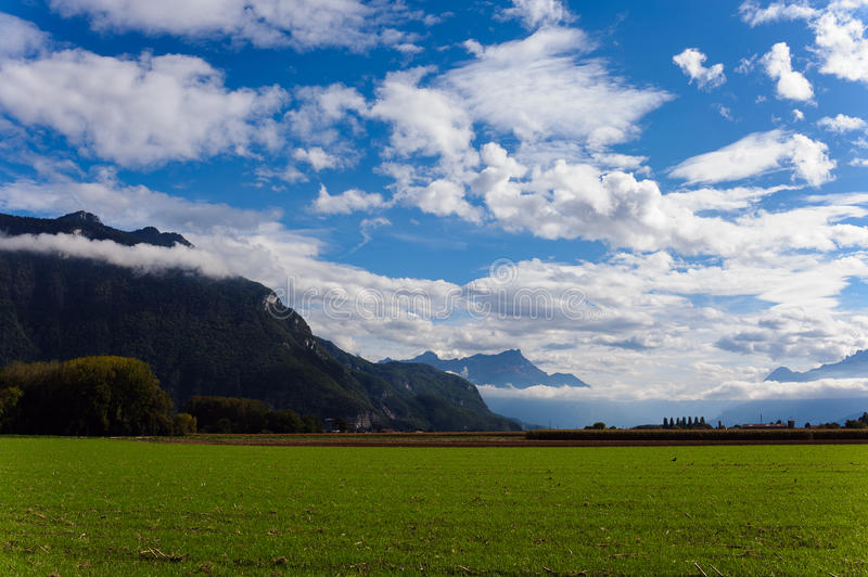 View of mountains and clouds royalty free stock photo