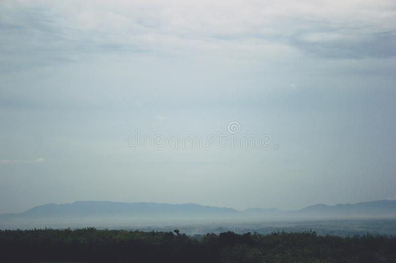 View of the Mountains in Gunungkidul Indonesia. The best and most charming vacation spot stock photography
