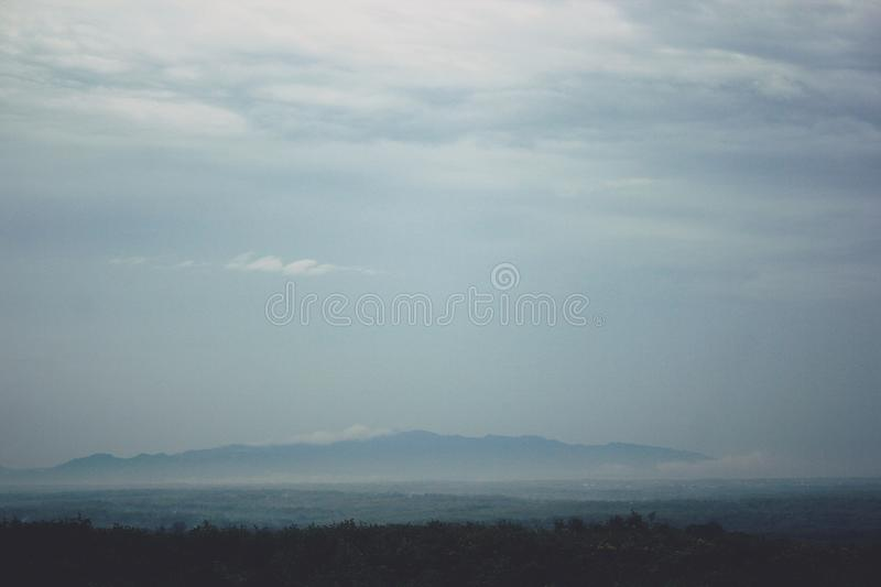 View of the Mountains in Gunungkidul Indonesia. The best and most charming vacation spot stock photo