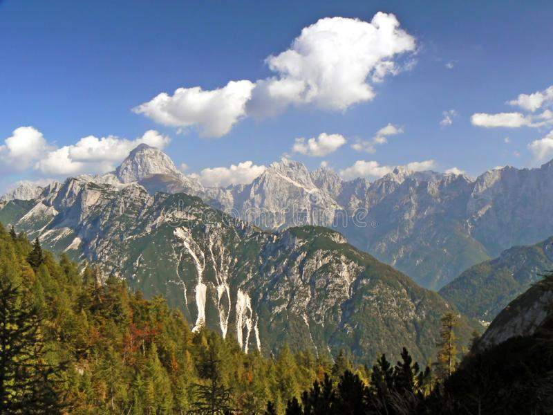 View of mountains, italy, alps stock photo