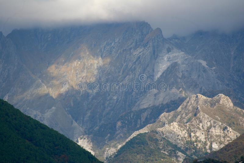 The view of the Mountains in Italy. stock images