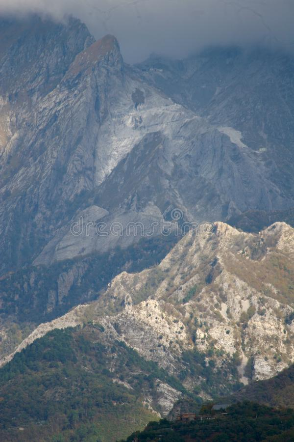 The view of the Mountains in Italy. royalty free stock photo
