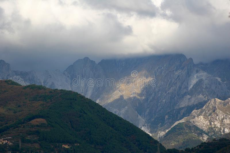 The view of the Mountains in Italy. royalty free stock image