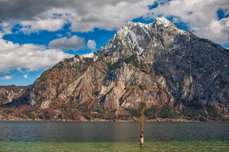 View of the mountains and the lake in the Alps. Austria stock images