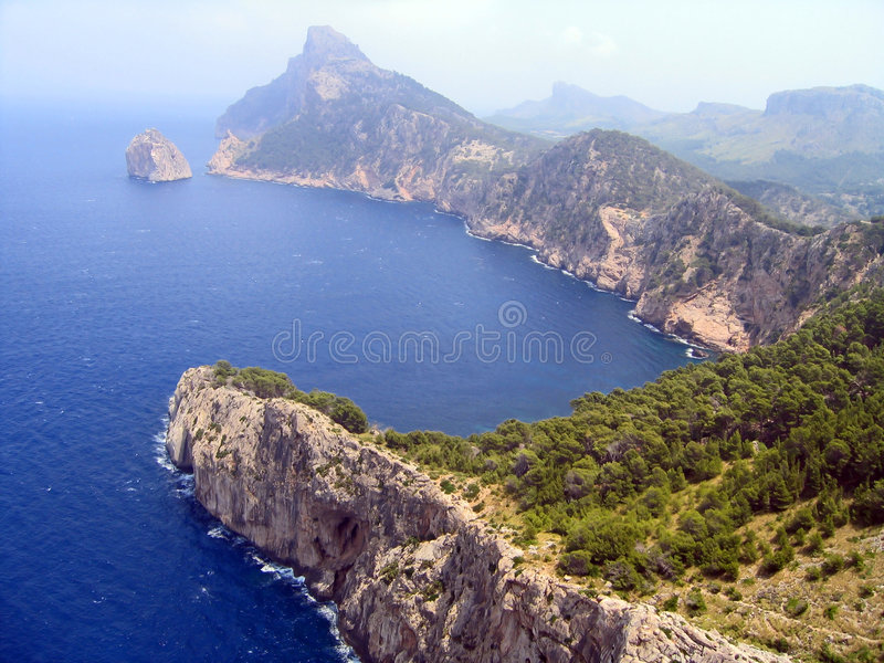View mountains Mallorca, Spain royalty free stock image