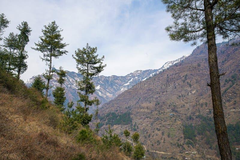 View  on Mountains   near  Kullu. Town at  Himachal Pradesh stock photo