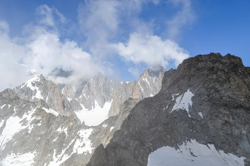 Mountains over 3000 m in Aosta valley royalty free stock photography