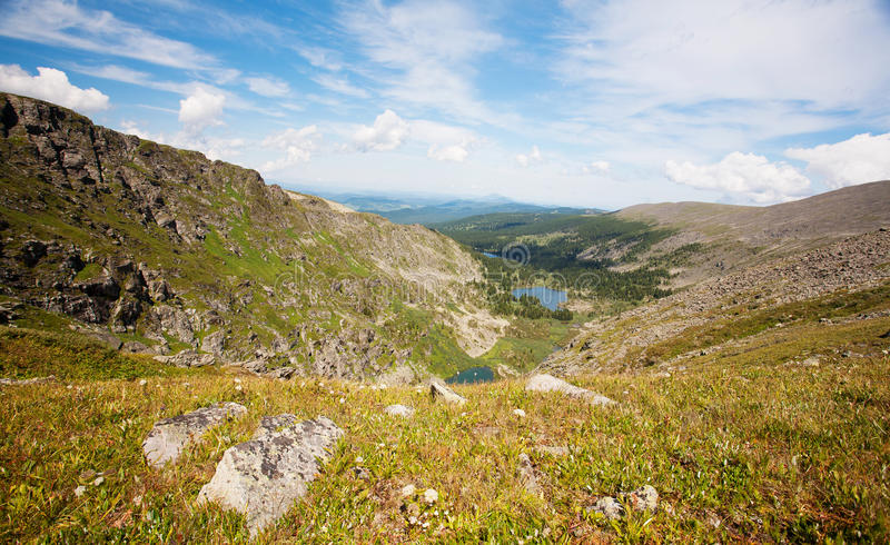 View from mountains pea royalty free stock images