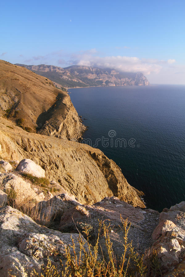 View on mountains and sea royalty free stock images