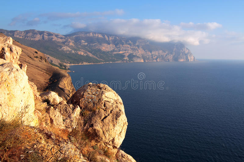 View on mountains and sea royalty free stock photo